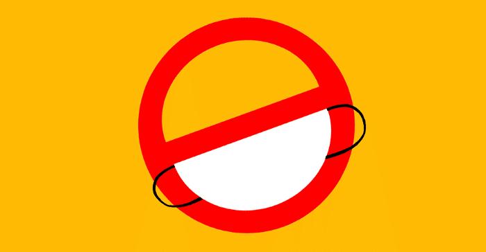 Maszkviselés ellen buzdító ábra
